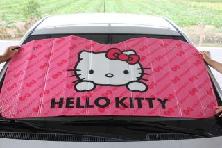 Summer Hello Kitty Pink Car Windshield Block Sun Shade Right Window 5pc