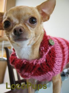 XS Dog Sweater Clothes Chihuahua Maltese Yorkie 3 4 Lbs