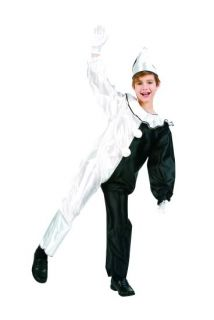 Harlequin Clown Child Costumes Black White Circus Jester Kids Jumpsuit 90097