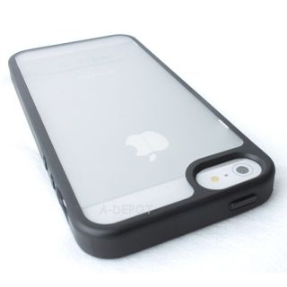 For Apple iPhone 5 5g Gen TPU Case Soft Cover Black Clear Candy Skin Phone