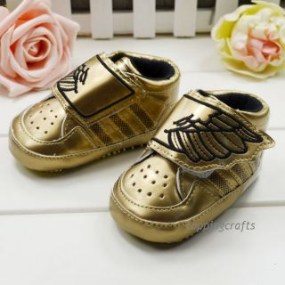 Baby Boys Infant Toddler Gold Wing Sneaker Soft Sole Crib Shoes Age 3 18 Months