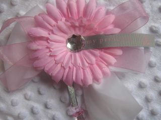 Princess Pink Baby Pram Charm Pram Hood Corsage Babies Bag Bow Dummy Decoration