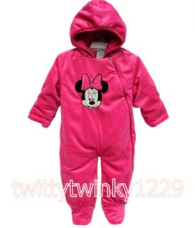 Baby Girl Minnie Mouse Romper Snowsuit with Hooded Costume Jumper 0 9 Months