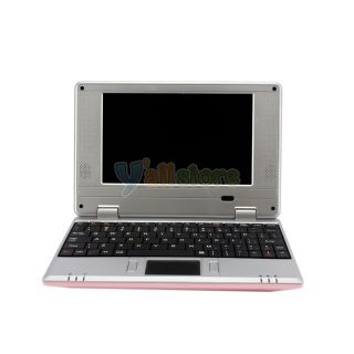 "7"" Mini Netbook Laptop Notebook WiFi 2 GB Android 2 2 OS Via 8650 Pink 800MHz"