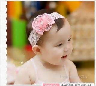 Lace Flower Headband Cute Baby Girl Elastic Hairband Hair Accessories 0075D