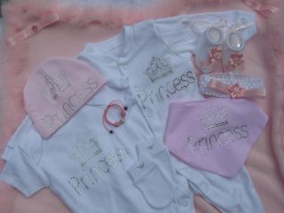Baby Girl Princess Clothes Outfit Gift Box Set Bundle Baby Shower Gift