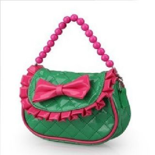 Baby Kids Girl Messenger School Bag Elegant Princess Pink Shoulder Bag Bowknot