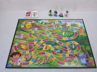 MB Candy Land Dora The Explorer Nick Jr Board Game Ages 3 No Reading