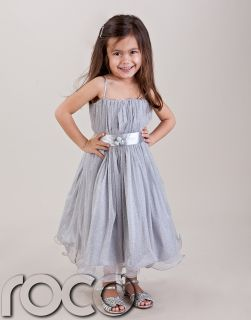 Aimee Leigh Flower Girl Dress for Baby Girl Silver Hoop Dress Bridesmaid Wedding