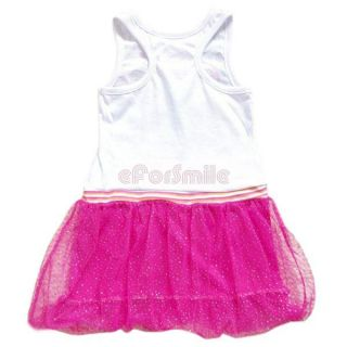 Girl Kid White Pink Disney Princess Fairy Costume Fancy Dress Skirt Outfit 2 7