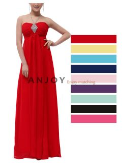 Column Gorgeous Evening Bridesmaid Wedding Cocktail Party Prom Dress Wo 285