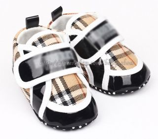 Toddler Baby Boy Plaid Walking Shoes Sneakers Size 0 6 6 12 12 18 Months