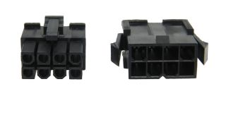 Black 8 Pin ATX EPS CPU Power Supply Connector Set
