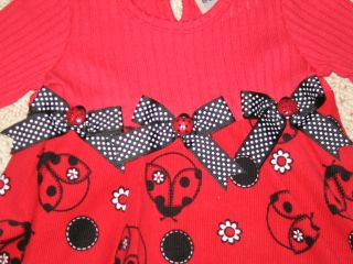 "New ""Elegant Ladybug"" Pants Girls Winter Clothes 3T Fall Toddler Boutique"