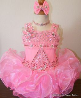New National State High Glitz Pageant Dress 9M 12M 18M