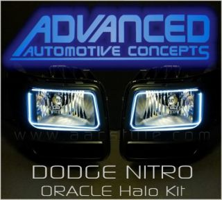 Dodge Nitro Headlight HID Halo Kit Angel Demon Eyes RT