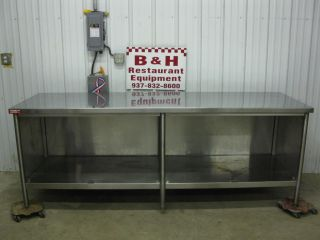 "96"" x 30"" Heavy Duty Stainless Steel Cabinet Work Prep Table 8'"