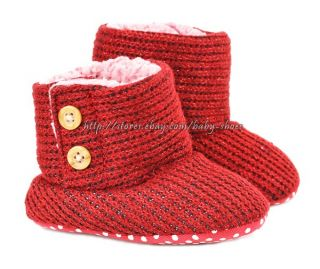 Baby Boys Girls Snow Boots Faux Fleece Lined Shoes Size Newborn TO18 Months