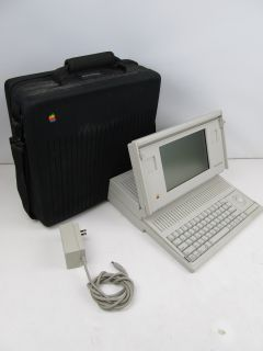 Vintage 1989 Apple Computer Macintosh Portable Laptop M5120 w Carrying Bag Case