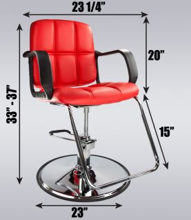 Red Modern Fashion Classic Hydraulic PVC Barber Chair Hair Styling Salon Beauty