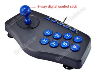 PC Laptop USB Joystick Joypad Gamepad Controller 8 Digital Fire Buttons Hot