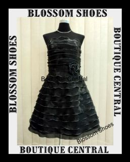 Black Tier Layer Womens Ladies Cocktail Evening Formal Party Dress Sz 8 10 12 14