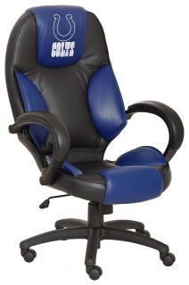 Indianapolis Colts NFL Commissioner High Back Leather Executive Office Chair