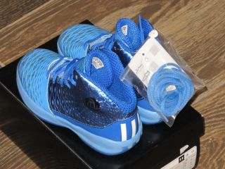 New Kid's Adidas D Rose 3 5 Basketball Shoes Blue Size 13K G66495