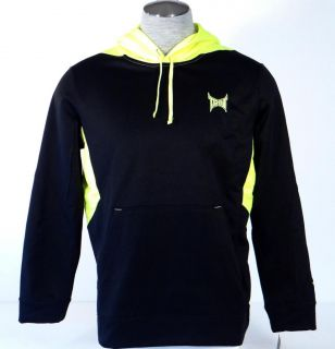 Tapout Signature Black Neon Yellow Hooded Sweatshirt Pullover Hoodie Mens