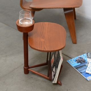 1950s Danish Modern Teak Magazine Drinks Table Mid Century Vintage