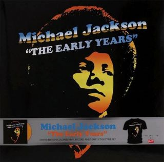 Michael Jackson Early Years Vinyl Record T Shirt Large