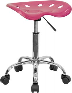 Pink Tattoo Parlor Nail Salon Beauty Shop Chair Stool