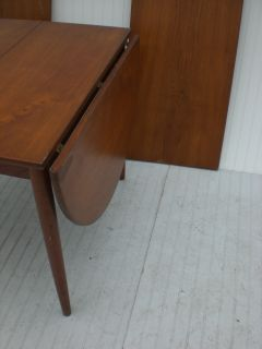 Mid Century Danish Modern Teak Drop Leaf Table 1905 B