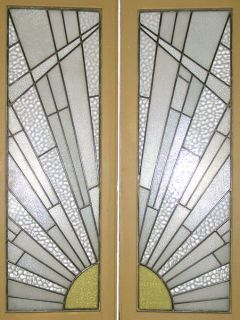 Set 4 French Art Deco Period Stained Glass Doors