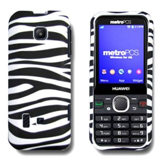 Black White Zebra Case for Huawei Verge M570 Cell Phone Hard Skin Cover