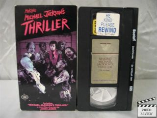 Making Michael Jackson's Thriller VHS Music Documentary
