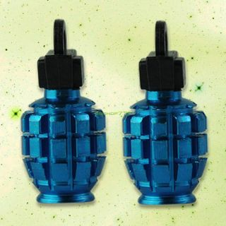 2X Grenade Scooter Bike Car Motorcycle Tire Tyre Wheel Air Valve Dust Covers Cap