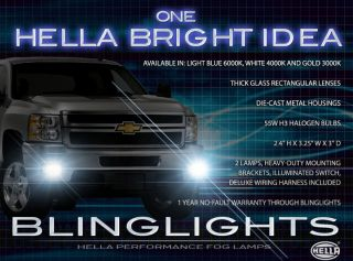 2007 2012 Chevrolet Chevy Silverado Hella Xenon Fog Lamps Driving Lights Kit