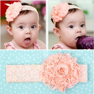 Baby Kid Girl Toddler Hairband Lace Bow Flower Headband Hair Accessories