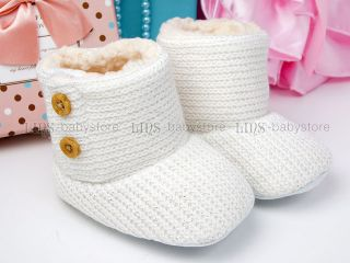 New Toddler Baby Boy Girl White Boots Shoes US Size 2 A874