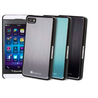 GreatShield Brushed Metal Aluminum Back Hard Shell Case Cover for Blackberry Z10