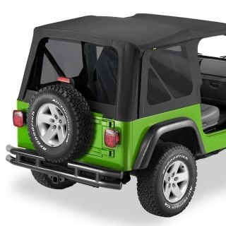 Bestop Tinted Window Kit for Replace A Top 2003 06 Jeep Wrangler TJ Black
