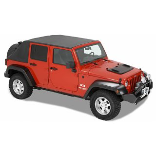 Bestop Trektop in Black Diamond for 07 13 Jeep Wrangler Unlimited JK 4 Door