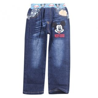 New Kids Toddlers Boys Girls Mickey Mouse Cool Blue Jeans Pants Size 3 9 Years