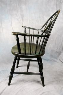 L42 ANTIQUE AMERICAN PAINTED WINDSOR SACK BACK CHAIR