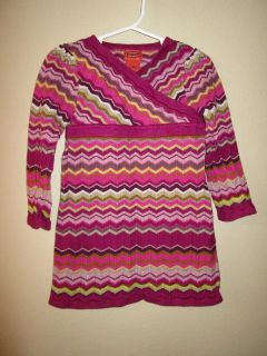 Missoni for Target Toddler Girls Pink Zigzag Sweater Dress Size 2T 3T