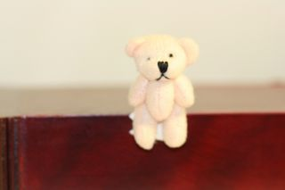 Dollhouse Miniature Soft Pink Fabric Teddy Bear