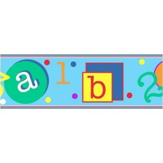 ABC 123 Preschool Self Adhesive Wall Border Pre Pasted
