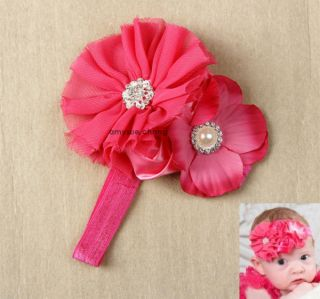 1pc Infant Baby Girl Kid Toddler Lace Flower Headband Hair Band Bow Accessories