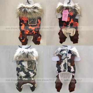 Autumn and Winter Camo Dog Clothing Jacket Wear Cotton Warm Dog Clothes Coats